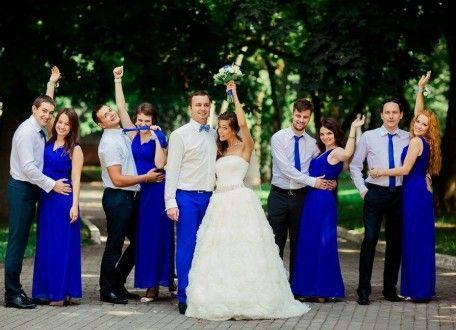 синий цвет в свадьбе