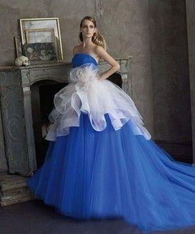 сине-белое платье