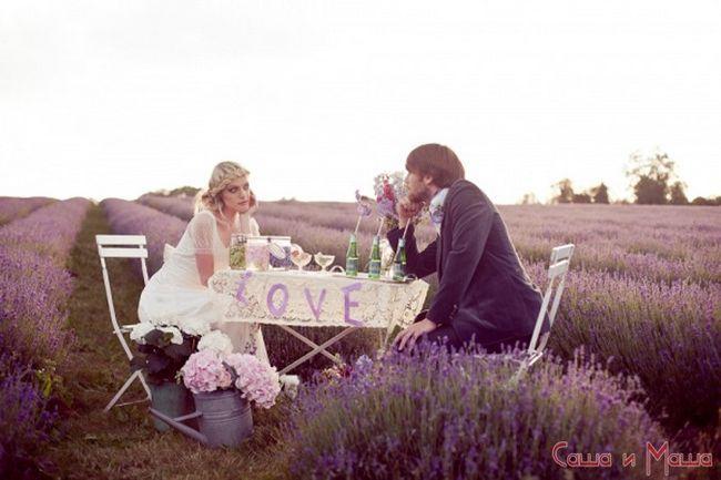 жених в свадьбе в стиле прованс