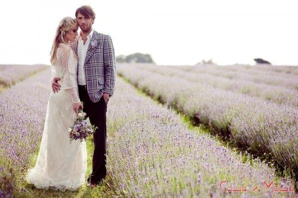 образ жениха и невесты в свадьбе прованс