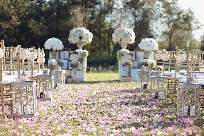 оформление свадьбы в стиле прованс на природе