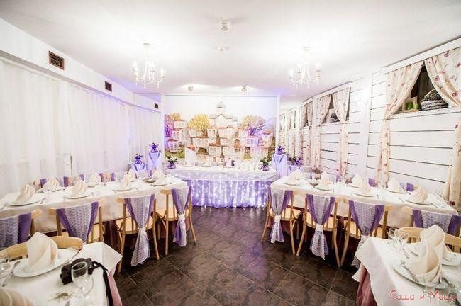 Свадьба в стиле Прованс в ресторане