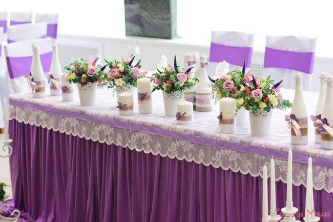 Свадьба в стиле Прованс украшение стола
