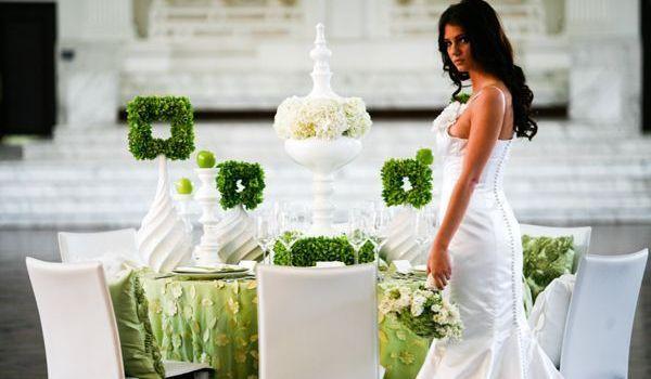 свадьба в зеленом