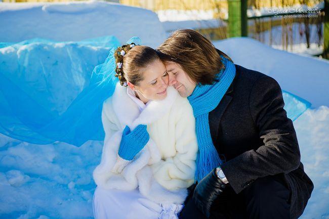 зимняя свадьба в голубых тонах