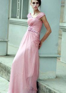 Розовое свадебное платье пляжное