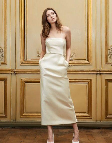 Пляжное свадебное платье миди