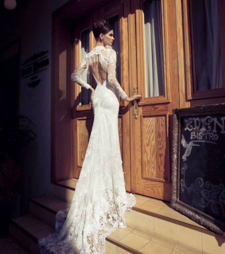 Свадебное платье русалка пляжное
