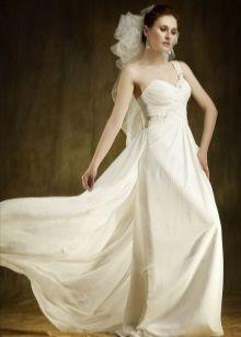 Свадебное платье пляжное на одно плечо