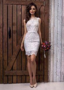 Свадебное платье с иллюзией обнаженного тела