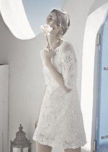 Свадебное пляжное платье из кружева