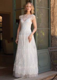 Свадебное платье в стиле Прованс с бретельками