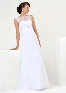 Свадебное платье Прованс с кружевным верхом