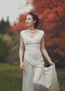 Осеннее свадебное платье в стиле Прованс