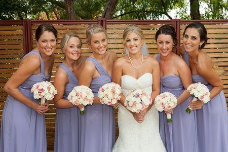 Лавандовые платья на свадьбе