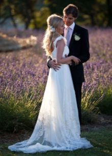 Свадебное платье для лавандового торжества