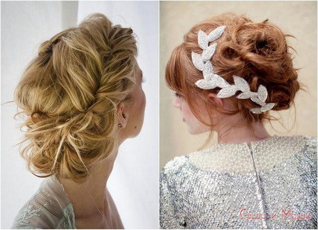 свадебная прическа невесты на средние волосы