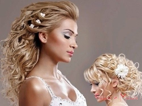 свадебная прическа средние волосы фото