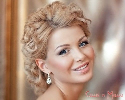 свадебная греческая прическа на короткие волосы