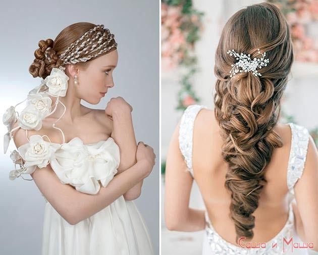 свадебные греческие прически коса
