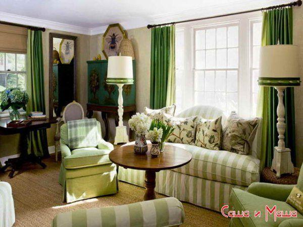 текстиль в интерьере гостинной