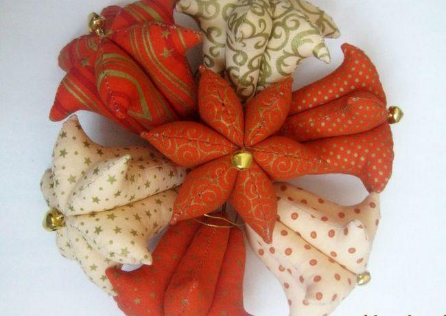 Текстильные елочные игрушки