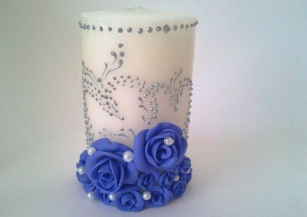 Украшение свечей на свадьбу своими руками