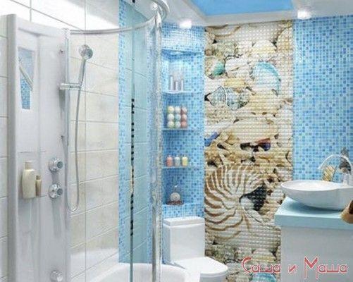 ванна в морской стилистике