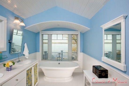 море и стиль в ванной