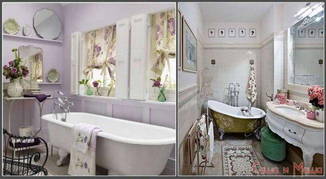 Ванна комната в стиле прованс