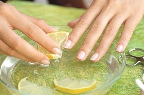 ванночка для ногтей с лимоном