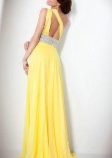 Вечернее платье в греческом стиле с открытой спиной