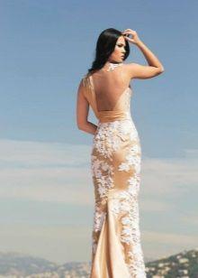 Вечернее платье без верха спины