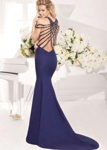 Вечернее платье с открытой спиной Тарик Эдиз в пол
