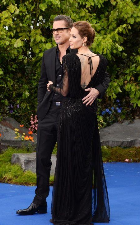 Вечернее платье Анжелины Джоли с открытой спиной