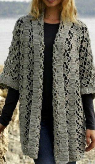Вязание ажурного кардигана