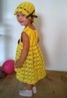 Вяжем для девочки крючком красивое ажурное платье
