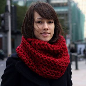Вяжем шарф-снуд своими руками на спицах