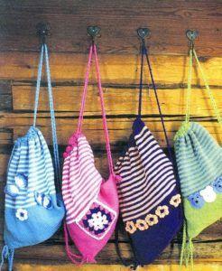 Разноцветные детские рюкзаки