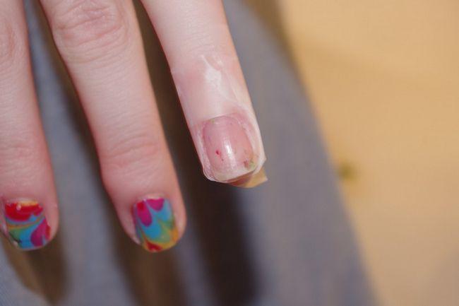 Водный дизайн ногтей