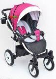 Прогулочная коляска с большими колёсами для девочки