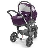 коляска для новорождённого трёхколёсная
