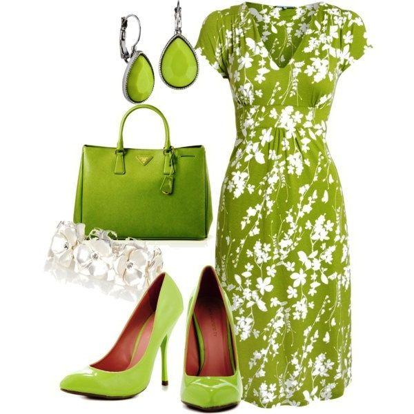 Яркая зелень в одежде