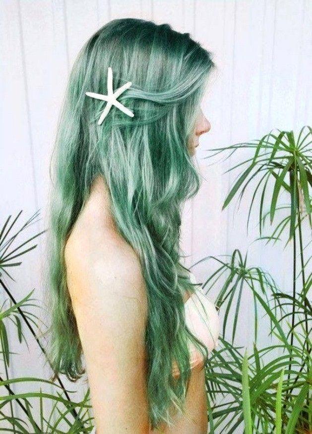 Мятные волосы