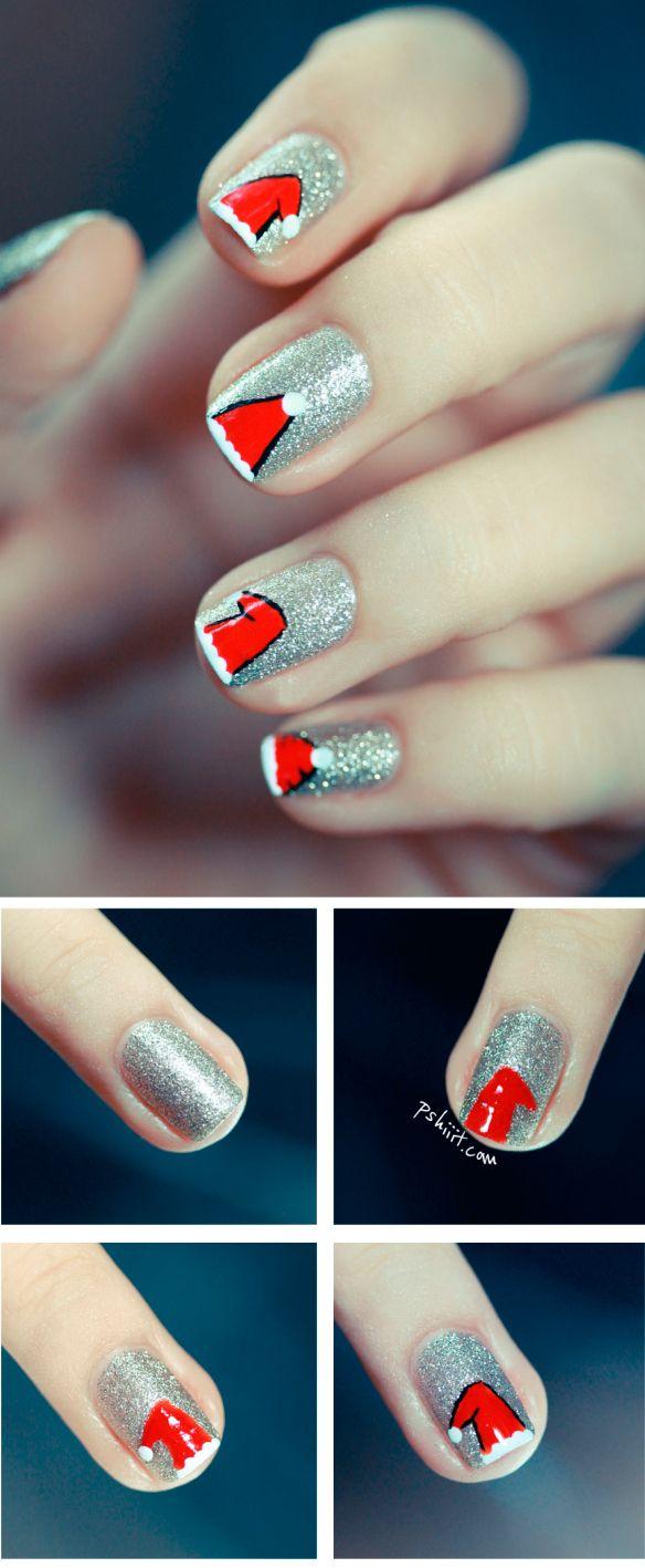 Санта-Клаус на ногтях